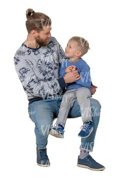 cut out little boy sitting on his fathers knee Cut Out People, Little Boys, Fathers, Hipster, Style, Fashion, Dads, Swag, Moda