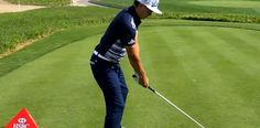 Rickie Fowler sets up to the ball in perfect posture, bent forward from the hips keeping his spine nice and straight, flexed at the knees. Rickie Fowler Swing, Golf Basics, Good Traits, Perfect Posture, Golf Videos, Golf Lessons, Best Player, Golf Tips, Golf Ball