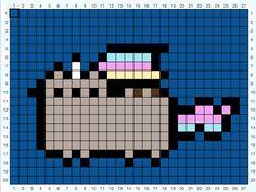Unicorn Pusheen Perler Beads/Pixel Art Template by Dani