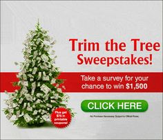 Win $1500 for a one-page survey! Nice Christmas offer