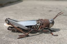 Scrap Metal Sculpture of a Field by GreenHandSculpture on Etsy