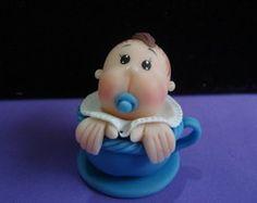 Lembrancinha para Chá de Bebê em Biscuit