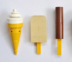 Lego ice creams by Henning Birkeland