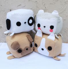 Dog Animal Plush - Kawaii Plushie - http://ninjacosmico.com/12-kawaii-plushies-that-youll-love/2/