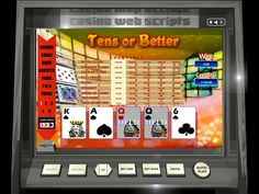Buy Video Poker game for Online Casino - Tens Or Better Video Poker Videopoker card
