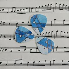 Guitar Picks - recycle Upcycled pick plastic gift cards for your Ukulele Guitar Mandolin - Happy Hanukkah Star