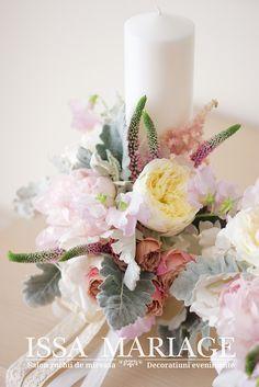 lumanare de botez issa 2018 Wedding Bouquets, Pastel, Table Decorations, Bride, Baby, Home Decor, Flowers, Wedding Bride, Cake