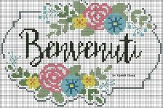 Frases Cross Stitch Boarders, Monogram Cross Stitch, Cross Stitch Flowers, Cross Stitch Designs, Cross Stitch Embroidery, Stitch Patterns, Cross Stitch Pictures, Needlework, Diy Crafts