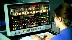 """atomic-flash: """" Operator at the Atlas Supercomputer Control Panel, 1963 (image via BBC Four) The first Atlas, installed at Manchester University [UK] and officially commissioned in was one of. Carl Sagan Cosmos, Computer Technology, Computer Science, Teaching Technology, Teaching Biology, Alter Computer, Computer Setup, Computer Case, Retro Arcade"""