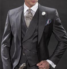 Italian wedding suits, morning suit model: G05-(377)