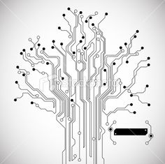Circuit Board Tree Abstract Background Royalty Free Stock Vector Art Illustration