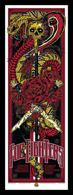Foo Fighters Concert Poster by Rhys Cooper || This is probably the most badass wallpaper ever.