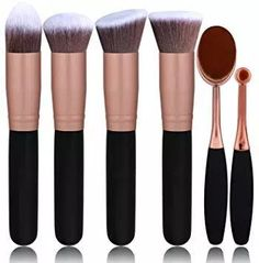 BS-MALL Face Foundation Powder Liquid Cream Oval Makeup Brushes Set Synthetic Makeup brushes(Pack of >>> Check this awesome product by going to the link at the image. (This is an affiliate link) Best Liquid Foundation Brush, Foundation Makeup, Too Faced Foundation, Powder Foundation, Foundation Application, Beauty Brushes, It Cosmetics Brushes, Synthetic Brushes, Thing 1
