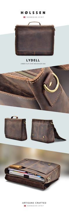 d0c01d4aa4d Vintage Leather Briefcase Messenger bag for work, school to carry ipad,  laptop, macbook