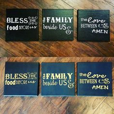 Lovin on these 10x10 canvas prayers. $40 for each set #family #blackandgold #prayer #amen #girlhityourhallelujah #canvas #customize