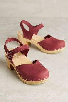 Sandgrens Victoria Clogs Berry 37 Euro Wedges
