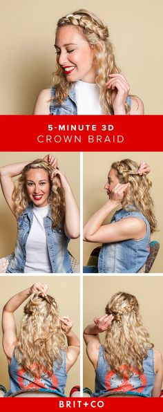 DIY this 5-minute 3D crown braid to step up your hair game this summer.