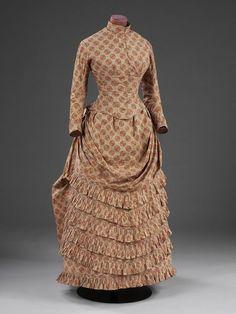 1885, United Kingdom - Dress - Printed cotton