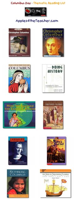 Suggested thematic reading list for Columbus Day - Columbus Day books for kids.