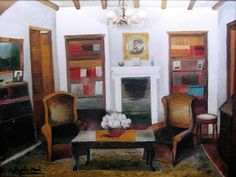 Ramón Aguilar Moré  (Spanish, 1924)  ~ Interior Lounge