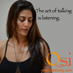 The #art of talking is #listening. #truth #spiritual #inspiration #quote
