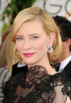 Red Carpet Beauty: Golden Globes 2014 | We love Cate Blanchett's soft, English Rose make-up.