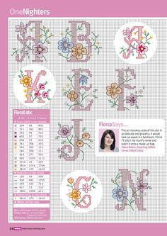 Flower alphabet (other letters on site)