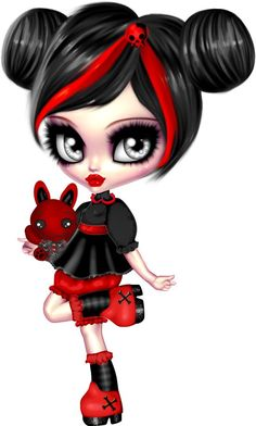 Coisas que Gosto: BONECA Anime Chibi, Manga Anime, Gothic Fantasy Art, Gothic Fairy, Voodoo Doll Tattoo, Japonese Girl, Day Of The Dead Art, Arte Obscura, Gothic Dolls