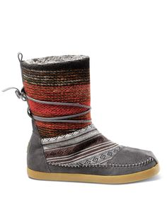 TOMS for winter?! Nepal Boots with woven wool and suede.