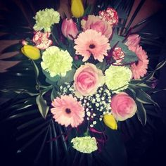 #flowers #bouquet #pink #yellow #green #sweet #romantic