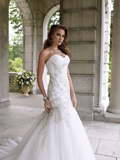 Country+Lace+Wedding+Dresses   Tulle and Lace Mermaid Bridal Wedding Gown with Sweetheart Neckline