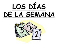 LOS DÍAS DE LA SEMANA. lunes martes miércoles jueves.