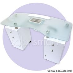Glass Top Manicure Table with Draft Vent product image