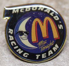 McDonalds Mac Tonight Racing Team Collectible Pinback Pin Button #McDonalds