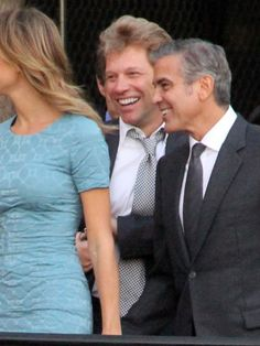 George Clooney and Stacy Keibler attend #Obama fundraiser with Jon Bon Jovi at the #Nokia theater in Los Angeles on October 7, 2012.  http://celebhotspots.com/hotspot/?hotspotid=5718&next=1