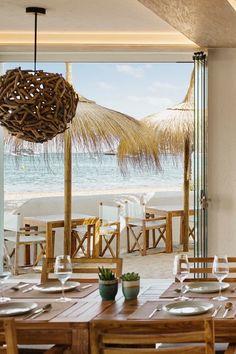 ibiza-restaurants-chambao-2019-09 Hotel Ibiza, Ibiza Town, Ibiza Beach, Destin Beach, Pool Bar, Deck Bar, Beach Club, Outdoor Restaurant Patio, Wooden Pathway