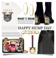 """""""Hump Day"""" by mistressofdarkness ❤ liked on Polyvore featuring Gucci, Maje, Moschino, Lana, Christian Dior and GUESS"""
