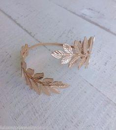 Rose-Gold-Leaf-Armlet-Greek-Upper-Arm-Bracelet-Bridal-Cuff-Bracelet