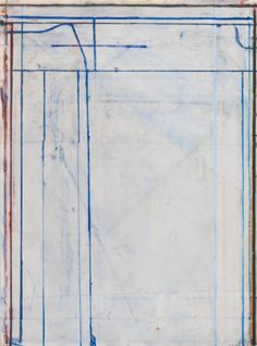 RICHARD DIEBENKORN 1922 - 1993 UNTITLED signed with the artist's initials and dated 80, acrylic and gouache on paper. 30 by 22 in. Executed in 1980.