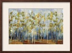 'Indigo Forest' by Sloane Addison Framed Graphic Art