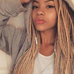 blonde cornrows | 50 Trendy Box Braids Hairstyles | herinterest.com - Part 2
