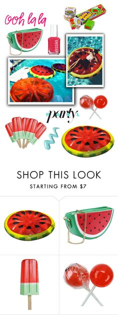 """Watermelon"" by lialicious on Polyvore featuring interior, interiors, interior design, home, home decor, interior decorating and Essie"