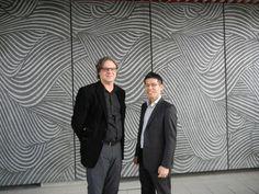 Artistic pattern design by Samuli Naamanka for Ishimoto Architectural & Engineering Firm, Inc . Semba Center Building in Osaka.   With Architect Yoshihiro Tada,  Ishimoto Architects.