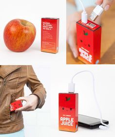 The Apple Juice Power Pack gives your phone a happy energy boost to get it through the day and night.