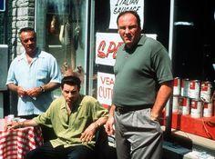 James Gandolfini, Steven Van Zandt, and Tony Sirico in The Sopranos Sopranos Cast, Nine Movie, Tony Soprano, Van Zandt, King Of Queens, American Crime, Great Films, Bruce Springsteen, Denial