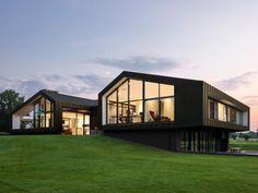 Maas Architecten » woonhuis laren // zink modern villa landelijk stucwerk schuur