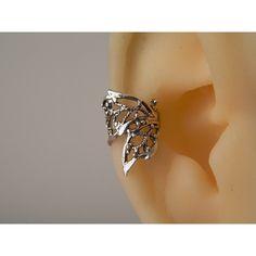elf ear cuff, fantastic ear cuff, no piercing, boho ear cuff, sterling... ($9.90) ❤ liked on Polyvore featuring jewelry, earrings, sterling silver jewellery, ear cuff earrings, boho jewelry, bohemian style jewelry and bohemian earrings
