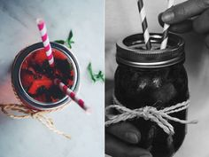 Fusion de limonade, fraises et menthe