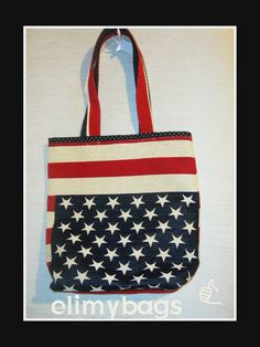Borsa bandiera inglese di stoffa handmade♡ | Elimybags su misshobby
