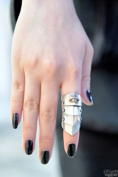 I own this ring in silver. It's one of my main statement jewelry pieces. - Vivienne Westwood - Armour Ring in Silver
